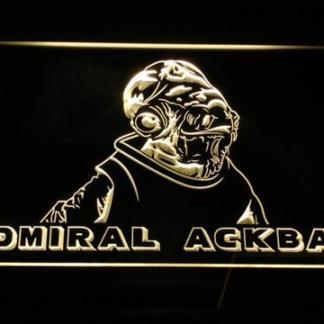 Star Wars Admiral Ackbar neon sign LED