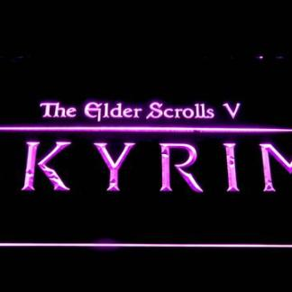 Skyrim The Elder Scrolls neon sign LED