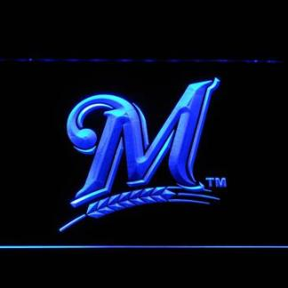 Milwaukee Brewers M neon sign LED