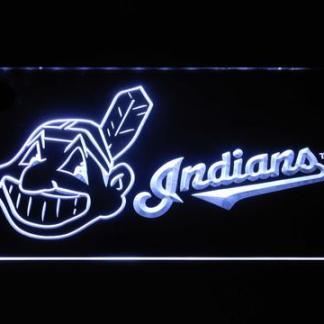Cleveland Indians Wahoo Wordmark neon sign LED