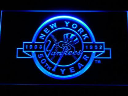 New York Yankees 50th Anniversary Logo - Legacy Edition neon sign LED