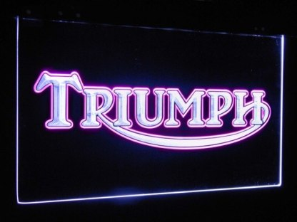 Triumph Car Truck Bar Decoration Gift Dual Color Led Neon Sign neon sign LED
