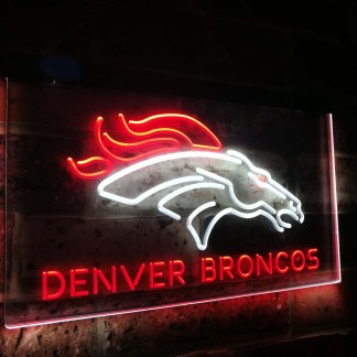 Denver Broncos Football Bar Decoration Gift Dual Color Led Neon Sign neon sign LED