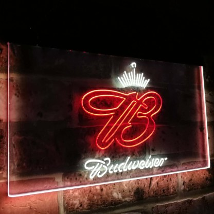 Budweiser Crown King Beer Bar Decoration Gift Dual Color Led Neon Sign neon sign LED