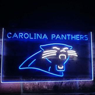 Carolina Panthers Football Bar Decor Dual Color Led Neon Sign neon sign LED