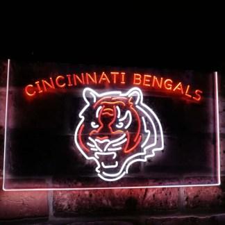 Cincinnati Bengals Football Bar Decor Dual Color Led Neon Sign neon sign LED