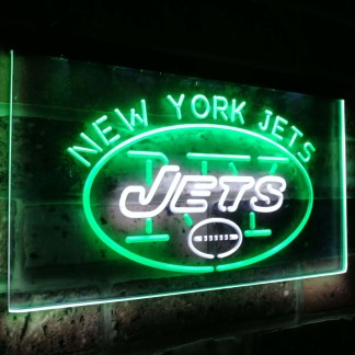 New York Jets Football Bar Decoration Gift Dual Color Led Neon Sign neon sign LED