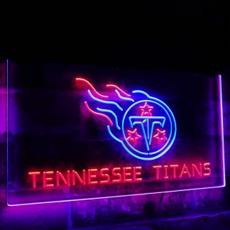 Tennessee Titans Football Bar Decoration Gift Dual Color Led Neon Sign neon sign LED
