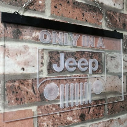 Only in a Jeep Car Bar Decoration Gift Dual Color Led Neon Sign neon sign LED