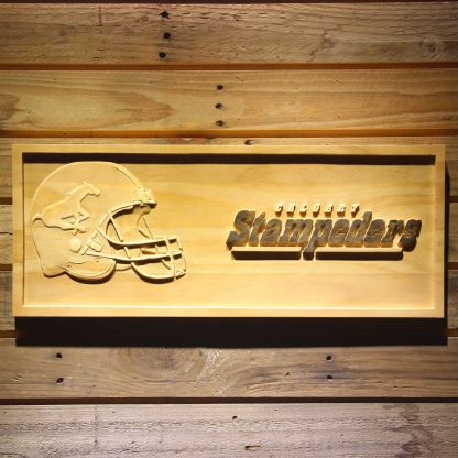 Calgary Stampeders Helmet Wood Sign neon sign LED