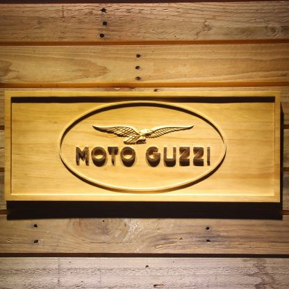 Moto Guzzi Wood Sign neon sign LED