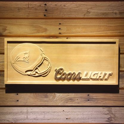 New England Patriots Coors Light Helmet Wood Sign neon sign LED