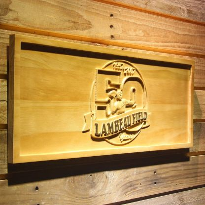 Green Bay Packers Lambeau Field 50th Anniversary Wood Sign - Legacy Edition neon sign LED