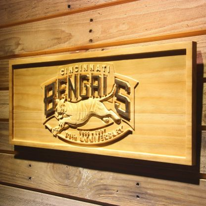 Cincinnati Bengals 30th Anniversary Logo Wood Sign - Legacy Edition neon sign LED