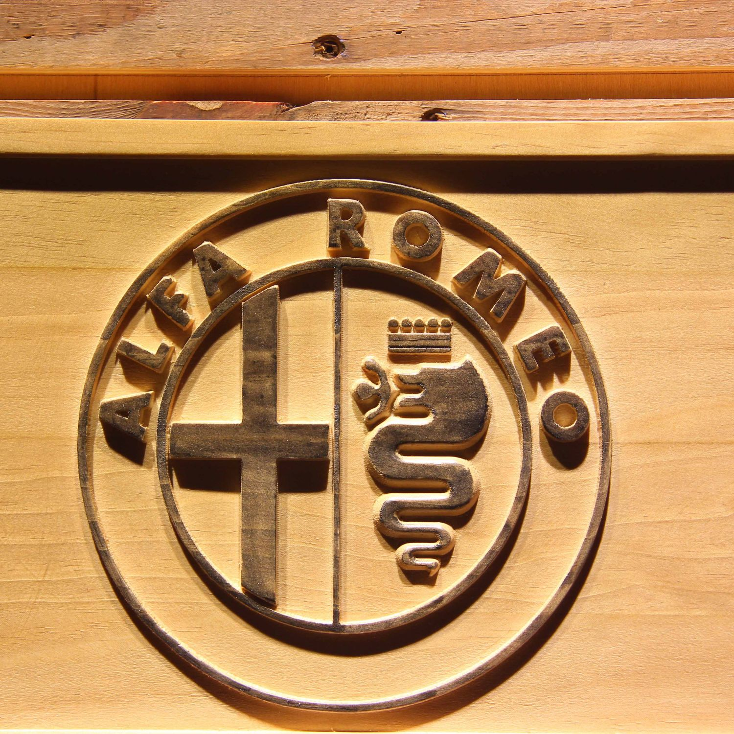 A Garage Is Not Garage Without Alfa Romeo sign for garage man cave home