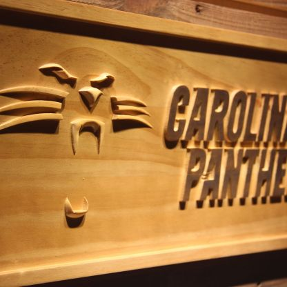 Carolina Panthers Wood Sign - Legacy Edition neon sign LED