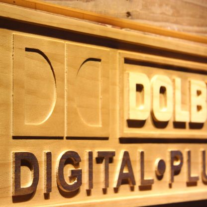 Dolby Digital Plus Wood Sign neon sign LED