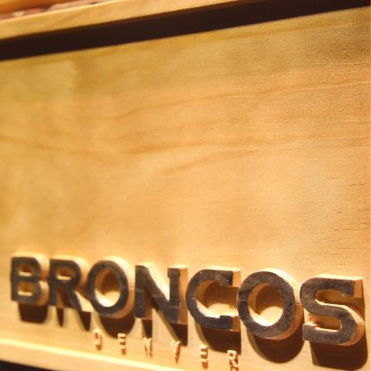 Denver Broncos Helmet Wood Sign neon sign LED