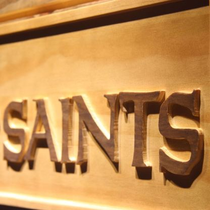 New Orleans Saints Wood Sign neon sign LED