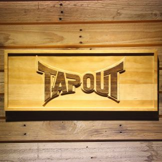 Tapout Wood Sign neon sign LED