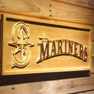 Seattle Mariners 2 Wood Sign neon sign LED