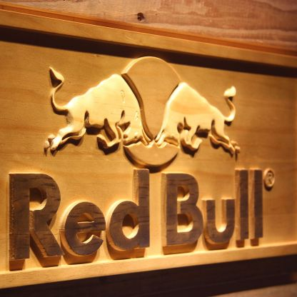 Red Bull Wood Sign neon sign LED