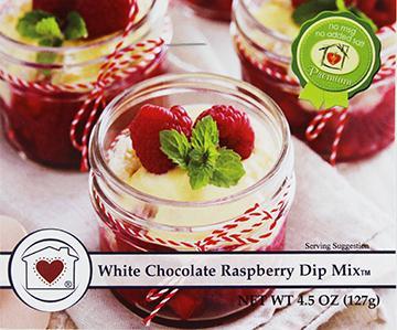 White Chocolate Raspberry Dip Mix