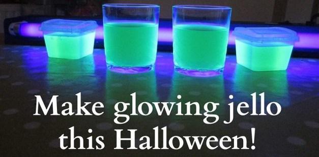 Halloween Party Idea:  Glow in the Dark Drinks!