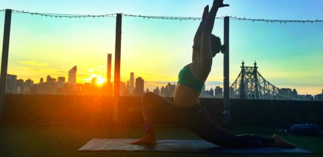 Sunset Rooftop Yoga with Dina Ivas