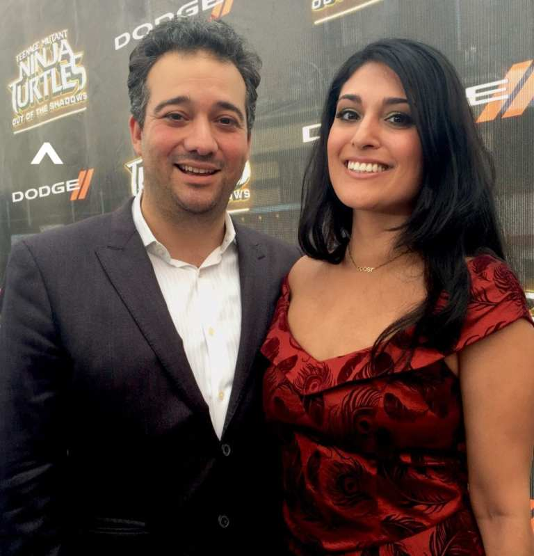 Gina Doost with talent manager Alex Shekarchian