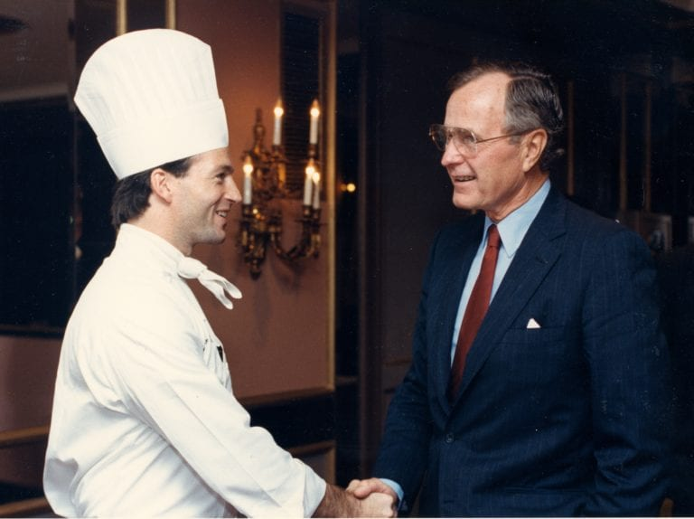 JD with George HW Bush