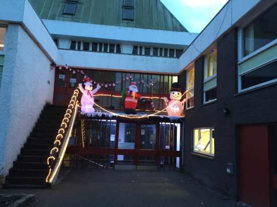 Anderston all done up for the GK Christmas party!