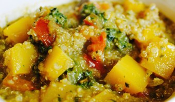 Quinoa Soup With Squash and Pesto