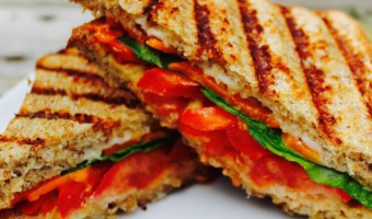Grilled Cayenne Tomato Chao Cheese Panini