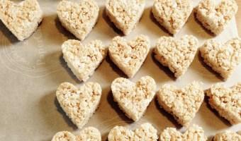 Rice Krispee Hearts