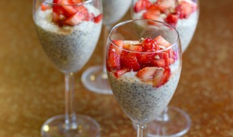 Strawberry Almond Chia Seed Pudding