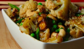Sticky Cashew Cauliflower