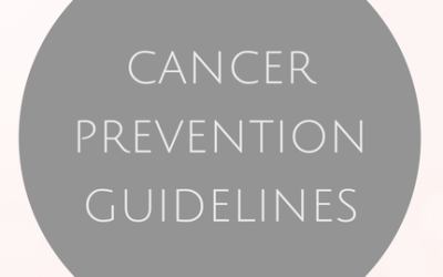 Cancer Prevention Guidelines
