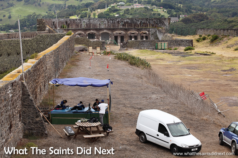 The St Helena National Trust has allowed a temporary 50m and 100yd range to be set up inside High Knoll Fort.