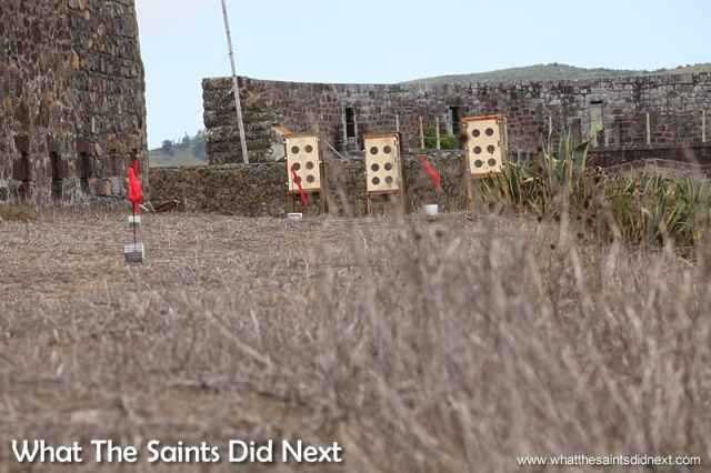 Flags along the range help shooters estimate the wind effect.