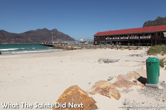 The Mariner's Wharf Restaurant on the beach in Hout Bay.