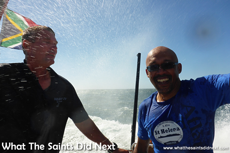 What 18.5 knots looks like! Sailing St Helena Bay.