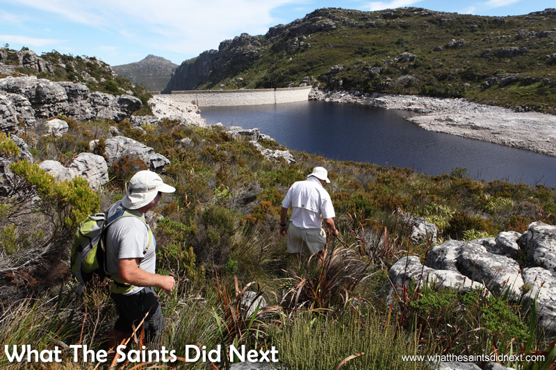 Exploring the Table Mountain dams.