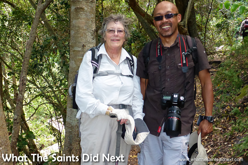 Darrin and Delene Stamper. Hiking The Table Mountain National Park.