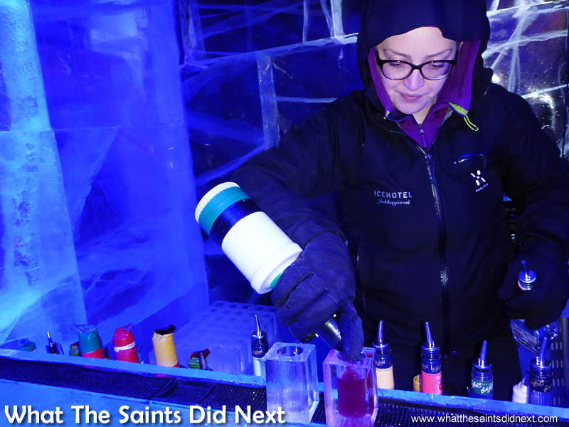 Bartenders did a good job making the tiny cocktails with bulky gloves. Icebar London – Quite Literally The Coolest London Experience.