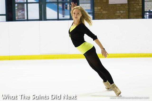 Maria Sergejeva on the ice. Ice Skating At Alexandra Palace.