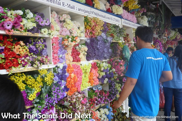 Every silk flower you could wish for is sold here.