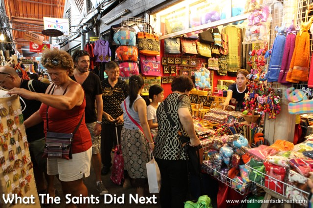 The 8000 stalls are packed in across the Bangkok market.