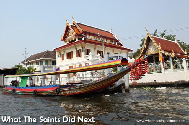 Long tail boats strike an elegant line on the Bangkok canals. Bangkok Long Tail Boat Tour.