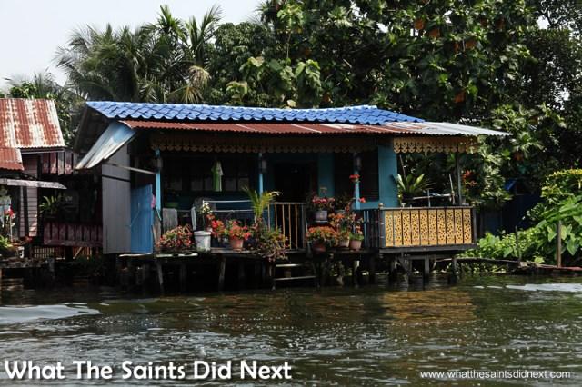 More waterfront property. Bangkok Long Tail Boat Tour.